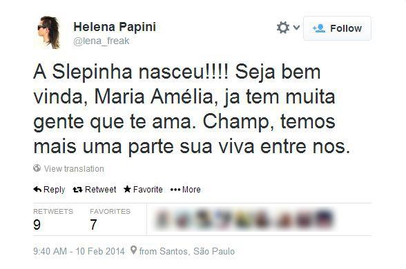Helena Papini (Foto: Twitter/Reprodução)