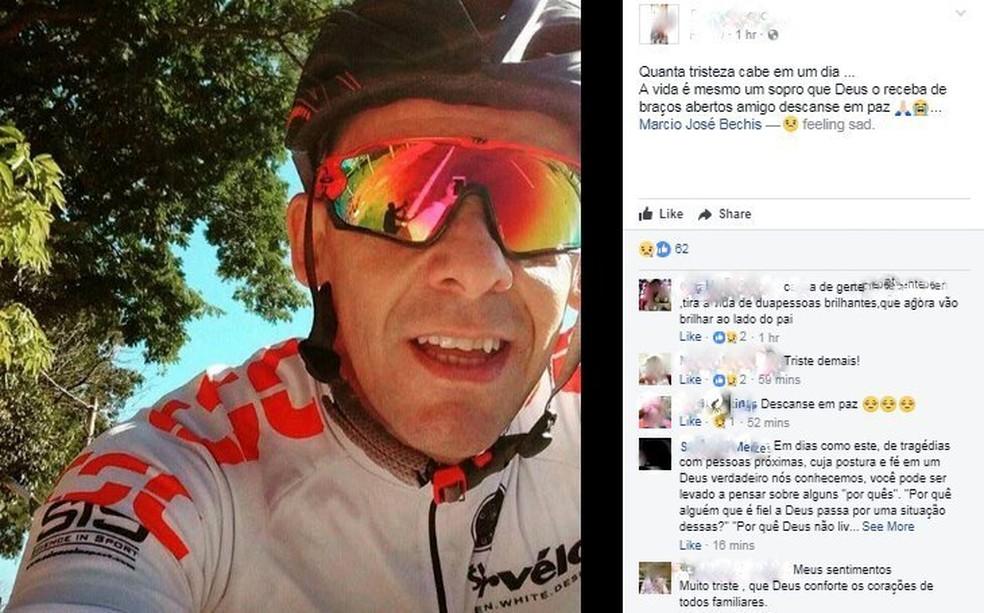 Amigos lamentam a morte de Márcio José Bechis nas redes sociais (Foto: Reprodução/Facebook)