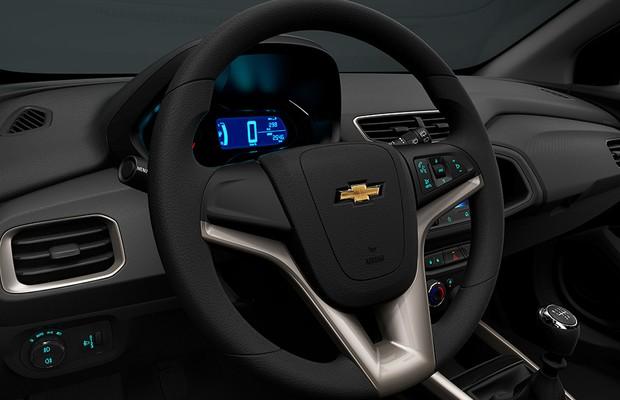 Interior do Chevrolet Onix LTZ 2016 (Foto: General Motors)