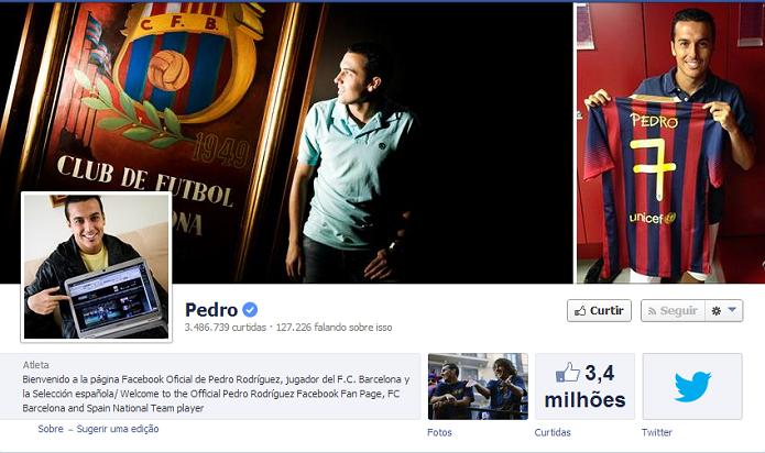 Pedro do Barcelona tem 3,463,395 de fãs no Facebook (Foto: Reprodução/Facebook)