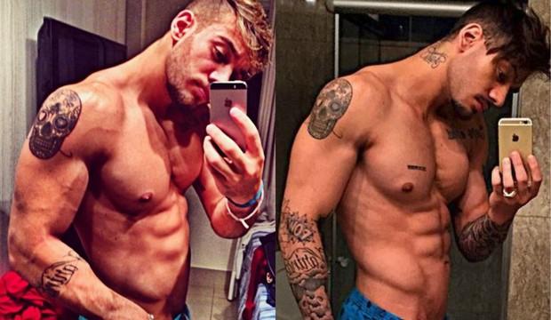 Antes e depois: Lucas Lucco perde músculos para novela Malhação (Foto: Reprodução do Instagram)