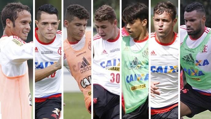 montagem juniores do Flamengo (Foto: Globoesporte.com)