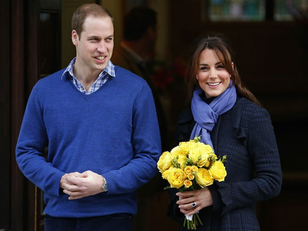 William e Kate deixam hospital em Londres nesta qunta-feira (6) (Foto: Andrew Winning/Reuters)