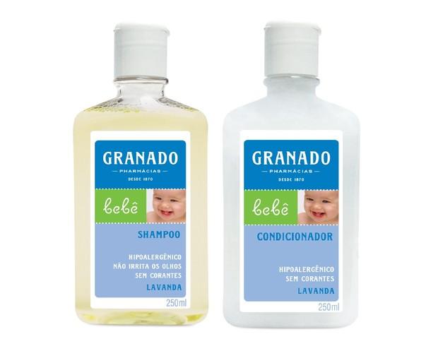 Shampoo e Condicionador Granado: ingredientes suaves para hidratar os cabelos  (Foto: Divulgação)