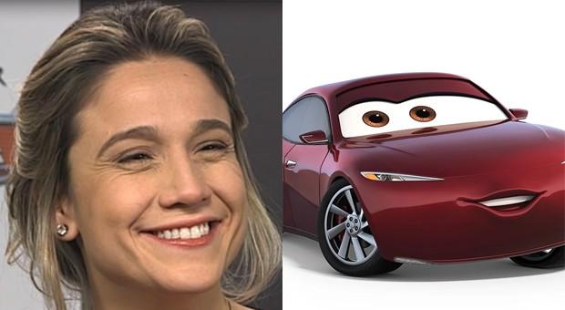 Fernanda Gentil é Natália Certeza em Carros 3 (Foto: The Walt Disney Company Brasil e Walt Disney/Divulgação)