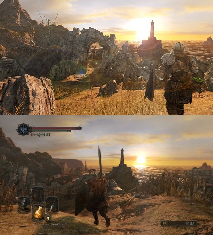 Dark Souls 2 na nova e na antiga geração (Foto: Divulgação)