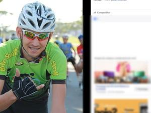 Lucas Jhones Rossi de Almeida, ciclista Mato Grosso (Foto: Reprodução/Facebook)