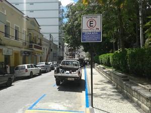 Cantagalo ganha mais vagas rotativas no Centro da cidade (Foto: Divulgação/Secretaria Municipal de Defesa Civil e Trânsito)