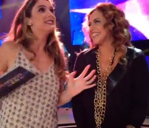 Rafa Brites recebe Daniela Mercury no SuperStar Web (Foto: Gshow)