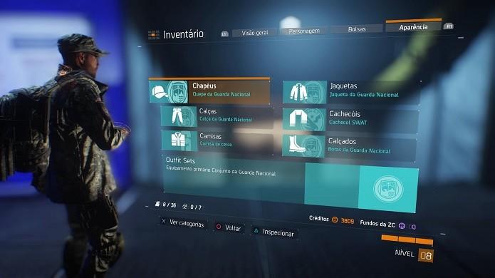 Jogadores podem personalizar aparência do personagem em The Division (Foto: Reprodução/Thiago Barros)