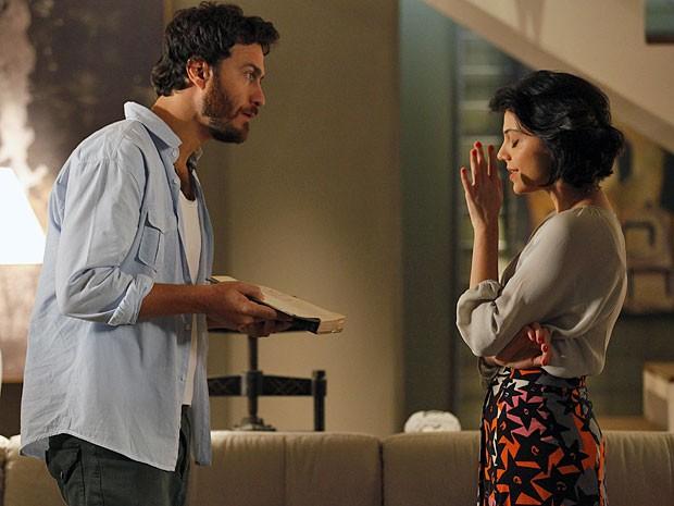 Miriam e Rodrigo rompem relações (Foto: Amor Eterno Amor/TV Globo)
