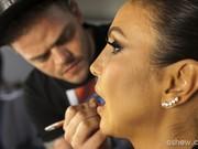 Bastidores maquiagem da Ivete Sangalo (Foto: Dafne Bastos / TV Globo)