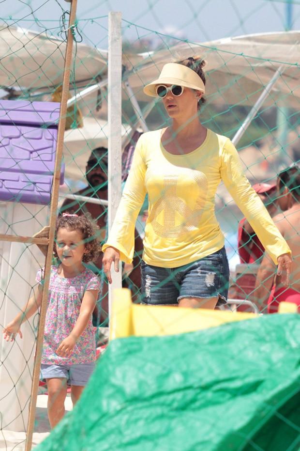 Guilhermina Guinle e a filha, Mina (Foto: Jc Pereira / AgNews)