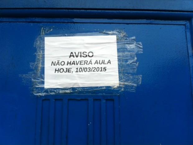 Aulas foram suspensas nesta terça-feira (10) (Foto: Adneison Severiano/G1 AM)
