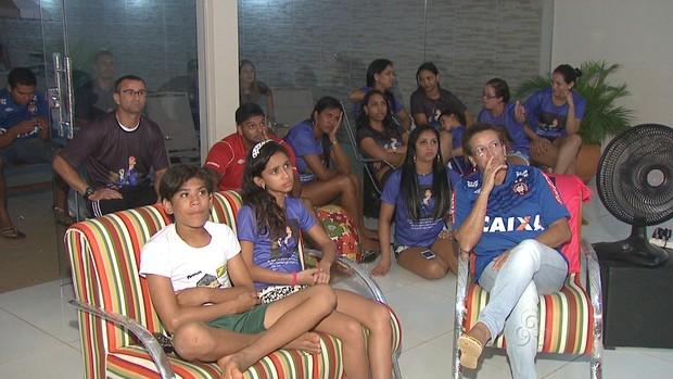 No Acre, família de Weverton acompanha final da Copa do Brasil (Foto: Reprodução/TV Acre)