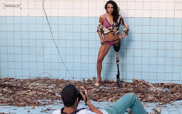 Making of Marinalva de Almeida, BBB17, para o Paparazzo (Foto: Anderson Barros / EGO)