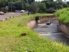 Carro com mulher e criança de 1 ano cai dentro de córrego em São Carlos