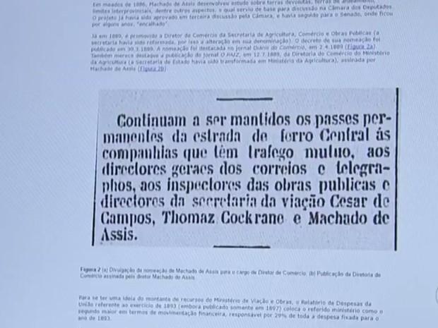 Publicações antigas em jornais ajudaram na pesquisa (Foto: Reprodução/TV TEM)