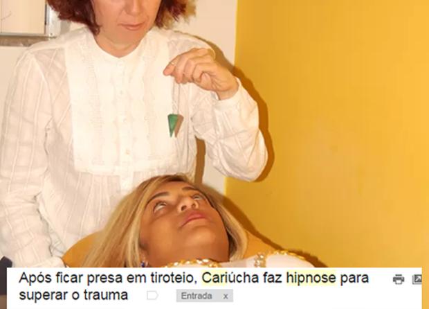 Cariúcha faz hipnose (Foto: Reprodução)