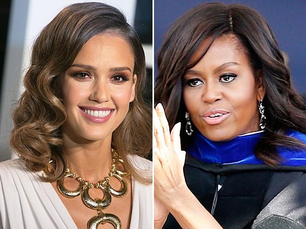 Jessica Alba e Michelle Obama levam o 'Oscar' da tecnologia (Foto: AFP e Rogelio V. Solis/AP Photo)