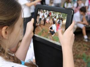 Colégio Oswald de Andrade permite uso de tablets com fins pedagógicos (Foto: Divulgação/Colégio Oswald de Andrade)