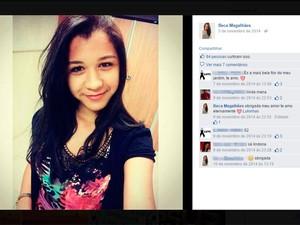 Daniele Rebeca Santana foi morta com bala perdida em Lauro de Freitas (Foto: Reprodução/Facebook)