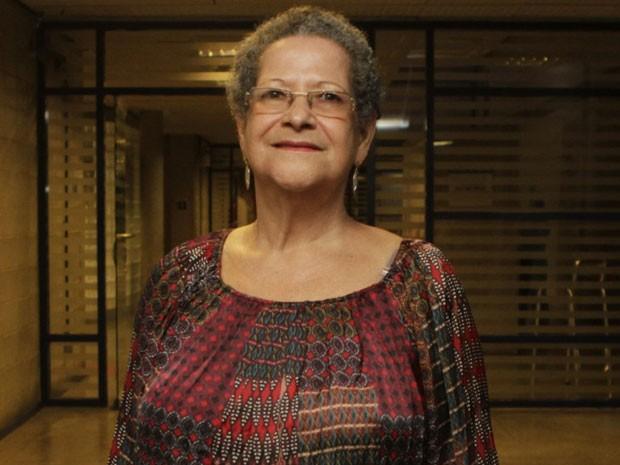 Geralda, do 'BBB 16', em conversa com jornalistas nos Estúdios Globo na Zona Oeste do Rio (Foto: Anderson Barros/ EGO)