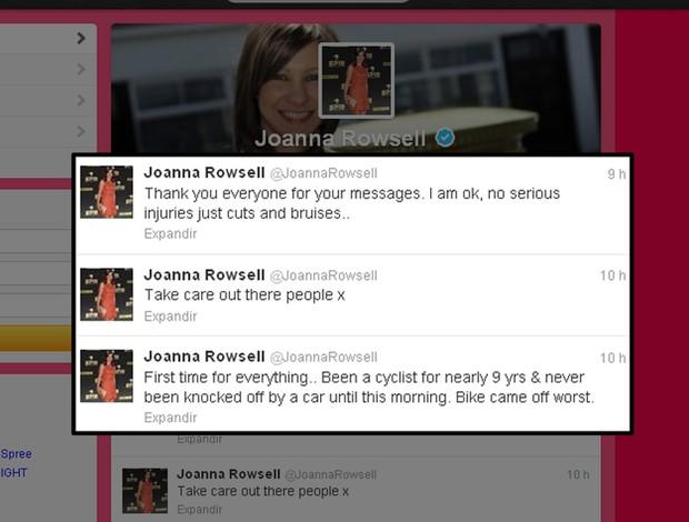 Joanna Rowsell no twitter  (Foto: Reprodução)