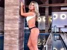 Iris Stefanelli posa de biquíni e diz: 'Não gosto de expor o corpo'