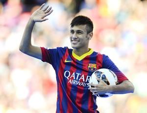 Neymar apresentação Barcelona (Foto: Getty Images)