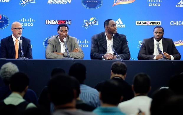Scottie Pippen coletiva ex-jogadores NBA Bulls x Wizards (Foto: Marcelo Carnaval / Ag. O Globo)