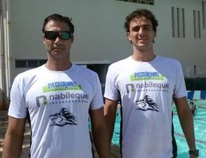 Rafael Martins e Mauri Rosolen Brasileiro Masters de Natação (Foto: Glaucia Rosolen / Cedida)