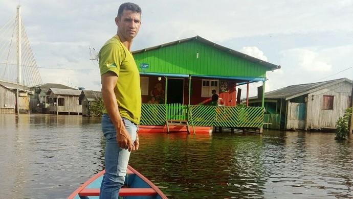 Zagueiro Castro, do Náuas (Foto: Adelcimar Carvalho)
