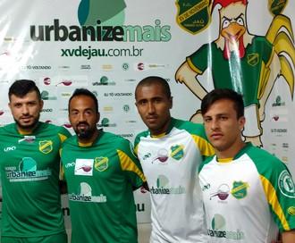 XV de Jaú, reforços, Segunda Divisão, Cris, Luiz Henrique, Jean Carlos e Vinícius (Foto: Tiago Pavini / EC XV de Jaú)