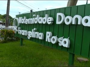 Maternidade Dona Evangelina Rosa em Teresina, no Piauí (Foto: Reprodução/TV Clube)