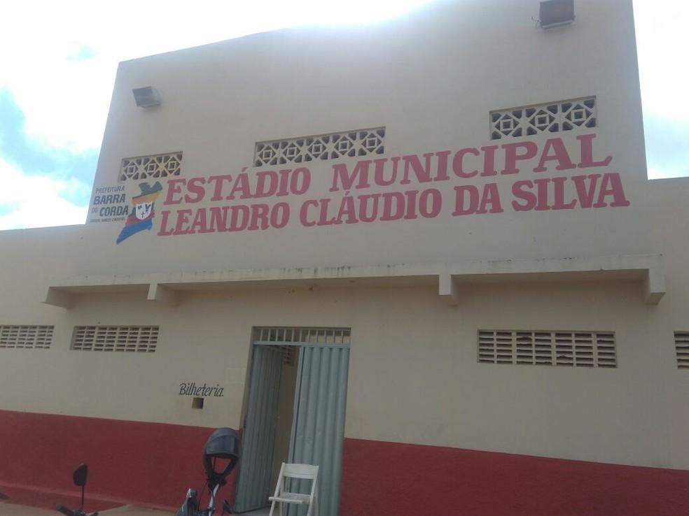 Estádio Leandrão, em Barra do Corda, iria receber final do returno do Maranhense (Foto: João Ricardo / GloboEsporte.com)
