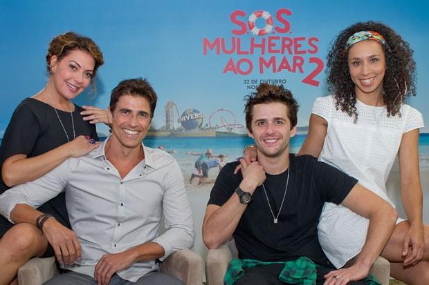 Reynaldo Gianecchini, Fabíula Nascimento, Thalita Carauta e Gil Coelho lançam 'SOS Mulheres ao Mar 2' em Orlando (EUA) (Foto: Divulgação/Mariana Vianna)