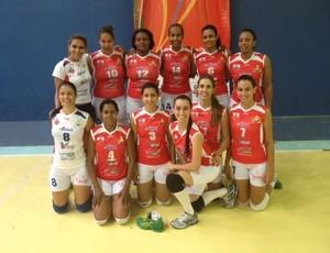 Equipe de vôlei feminino da Unidiv (Foto: Divulgação Unidiv)