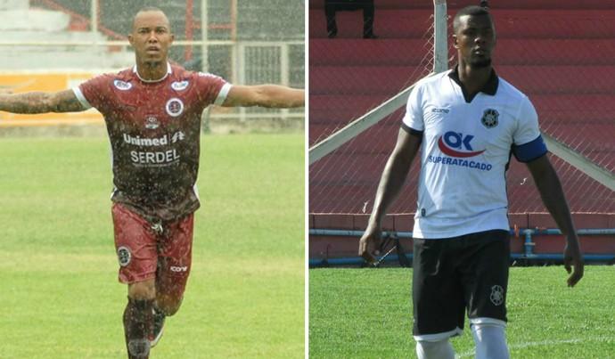 O meia Edinho e o volante Léo Oliveira são destaques de Desportiva e Rio Branco, que se enfrentam neste sábado, pelo Capixabão (Foto: Montagem/GE)