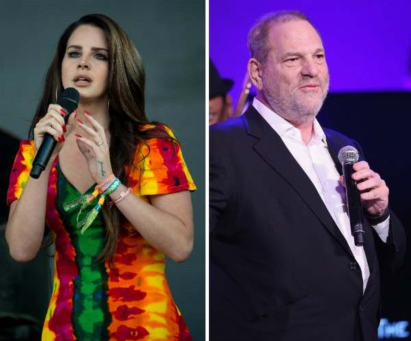 A cantora Lana Del Rey e o produtor de cinemaHarvey Weinstein (Foto: Getty Images)