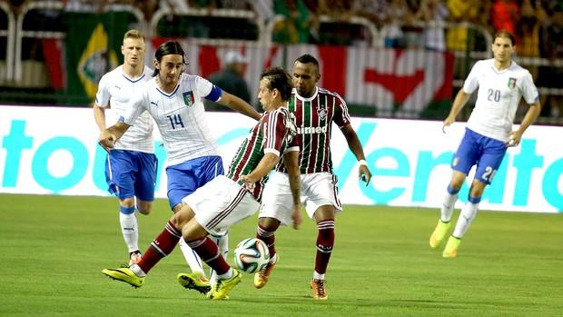 Diguinho no amistoso Itália x Fluminense (Foto: André Durão / Globoesporte.com)