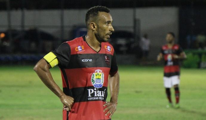 Eduardo Flamengo-PI x River-PI - Campeonato Piauiense 2017 (Foto: Renan Morais)