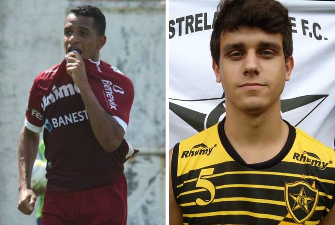 Lateral-esquerdo Tatá e zagueiro Dheizon reforçam a Desportiva no Capixabão 2017 (Foto: Montagem/GE)