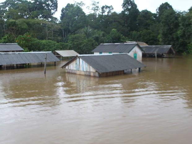 Regiões afetadas em Ressaca (Foto: Defesa Civil/Divulgação)