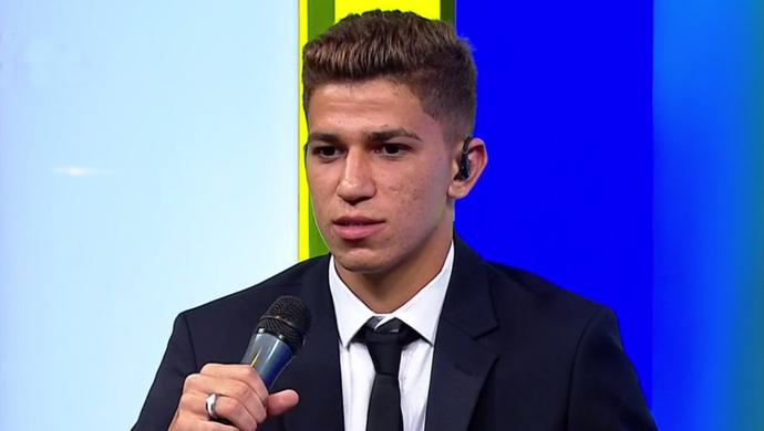 Vitor Bueno, meia do Santos (Foto: Reprodução SporTV)