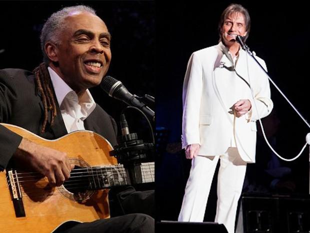Grandes nomes da música como Gilberto Gil e Roberto Carlos se apresentarão nos 400 anos de São Luís (Foto: Divulgação)