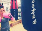 Maria Melilo posta foto fazendo boxe