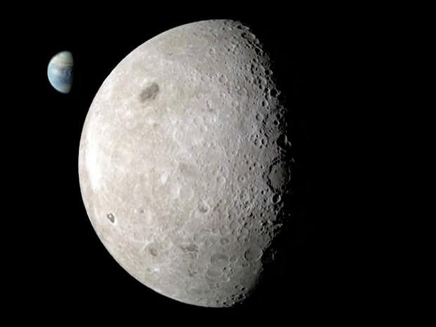 Imagens da Nasa revelam lado oculto da Lua (Foto: Reprodução/BBC)