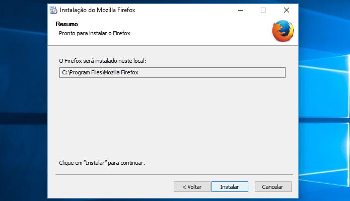 Instando o Firefox de 64 bits no Windows (Foto: Reprodução/Helito Bijora)