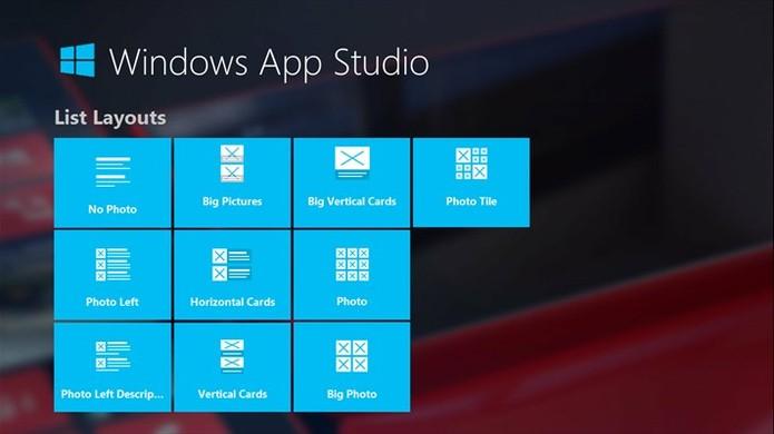 como criar um aplicativo com o windows app studio